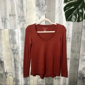 American Eagle Soft and Cozy Long Sleeve Tee C6